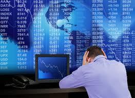 En man som blir förtvivlad över finanskrisen.