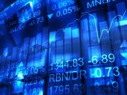 Grafer och tecken som representerar finansmarknaden.