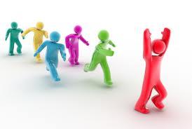 Springande figurer som representerar det humana kapitaltet.